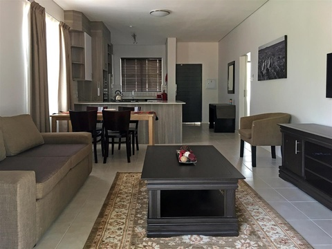 Apartments @ 125 - 2 bedroom unit; lounge, dining area & fully equipped kitchenette