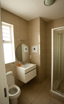 Apartments @ 125 - 1 bedroom unit; bathroom including shower & toilet
