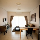 Apartments @ 125 - 1 bedroom unit; lounge & dining area, including smart enabled TV