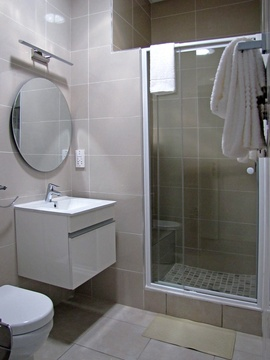Apartments @ 125 - 2 bedroom unit; bathroom including shower & toilet